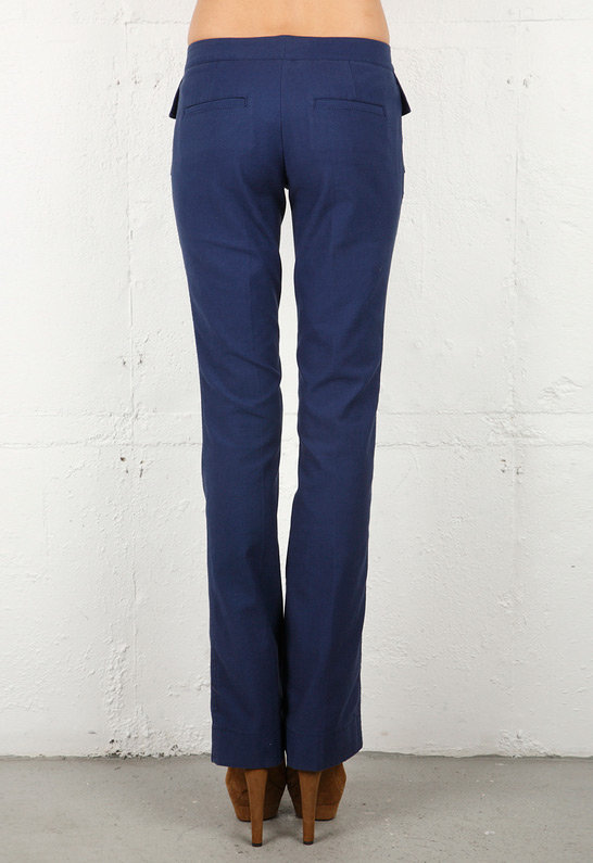 Robert Rodriguez Front Pocket Twill Pant in Navy