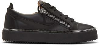 Giuseppe Zanotti Black Zipper May London Sneakers