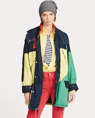 Ralph Lauren Color-Blocked Canvas Coat