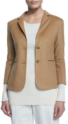 THE ROW Button-Front Fitted Jacket, Camel $3,590 thestylecure.com