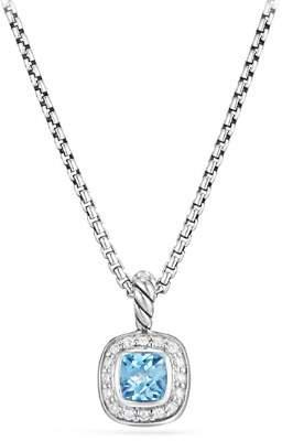 David Yurman Albion Kids Necklace with Blue Topaz & Diamonds