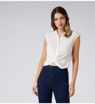 Ever New Frankie Twist Front Crop Shirt