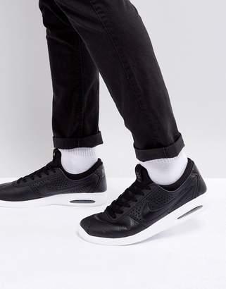 Nike Sb SB Bruin Max Vapor Leather Sneakers In Black 923111-001