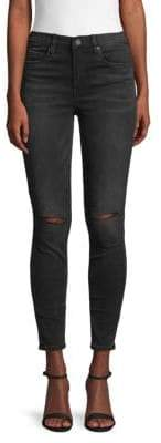 Blank NYC Distressed High-Waist Skinny Jeans