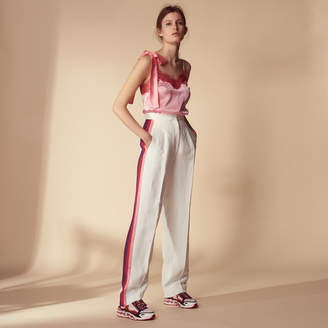 Sandro Trousers with braid trim on the sides