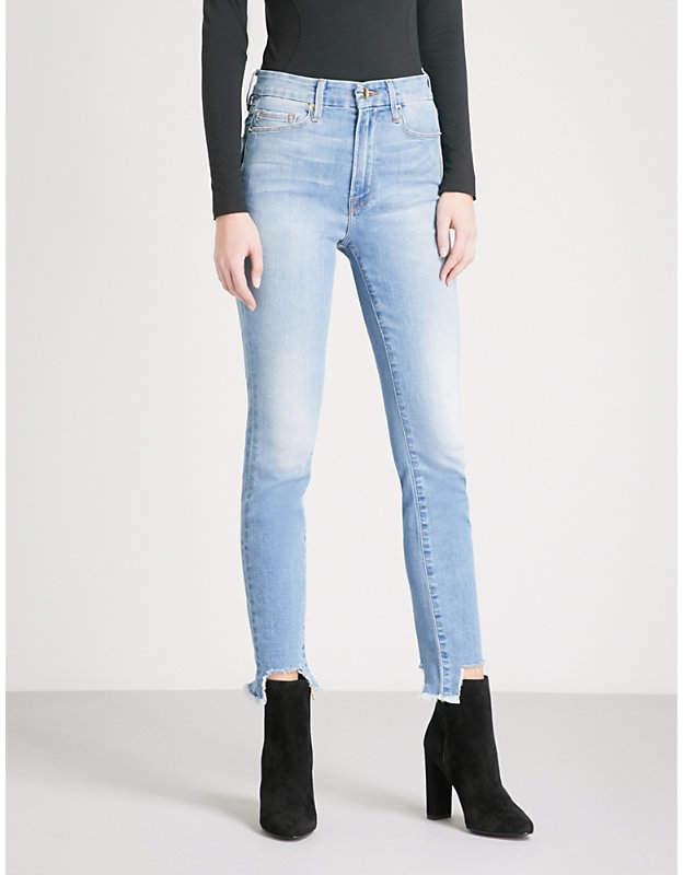 Good Waist frayed-hem skinny cropped high-rise jeans