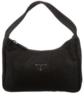 prada Prada Black Vela Mini Handle Bag
