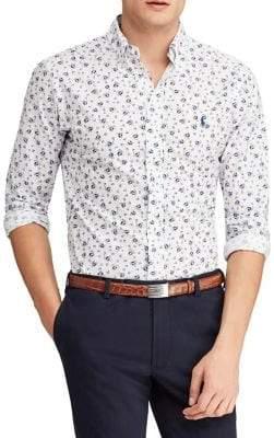 Polo Ralph Lauren Sailboat-Print Poplin Shirt