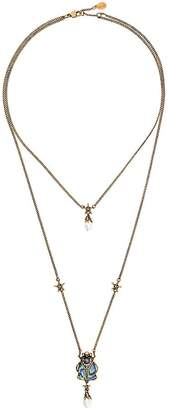 Alexander McQueen layered beetle necklace
