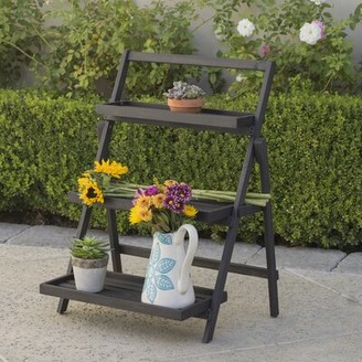 Modern Outdoor Charlton Home Goreville Multi-Tiered Plant Stand Charlton Home