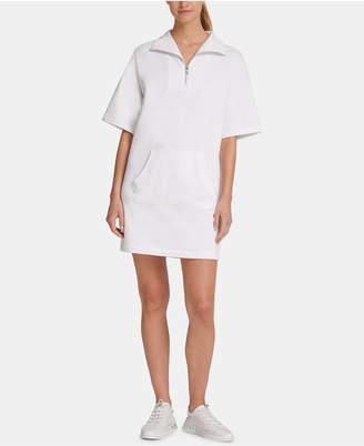 DKNY Sport Quarter-Zip Shirtdress