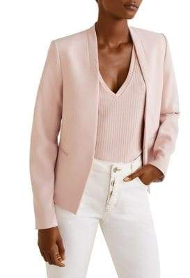 MANGO Inverted-Lapel Blazer