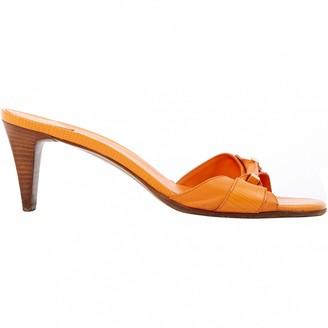 Louis Vuitton Orange Leather Sandals