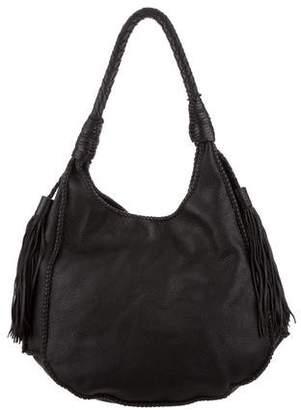 Alice + Olivia Andrew Leather Hobo Bag