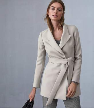 Reiss Clarence Satin Faced Belted Jacket