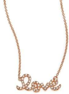 Sydney Evan Love Diamond& 14K Rose Gold Necklace
