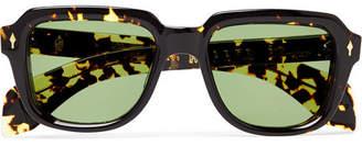 Taos Hopper + Jacques Marie Mage Square-Frame Tortoiseshell Acetate Sunglasses