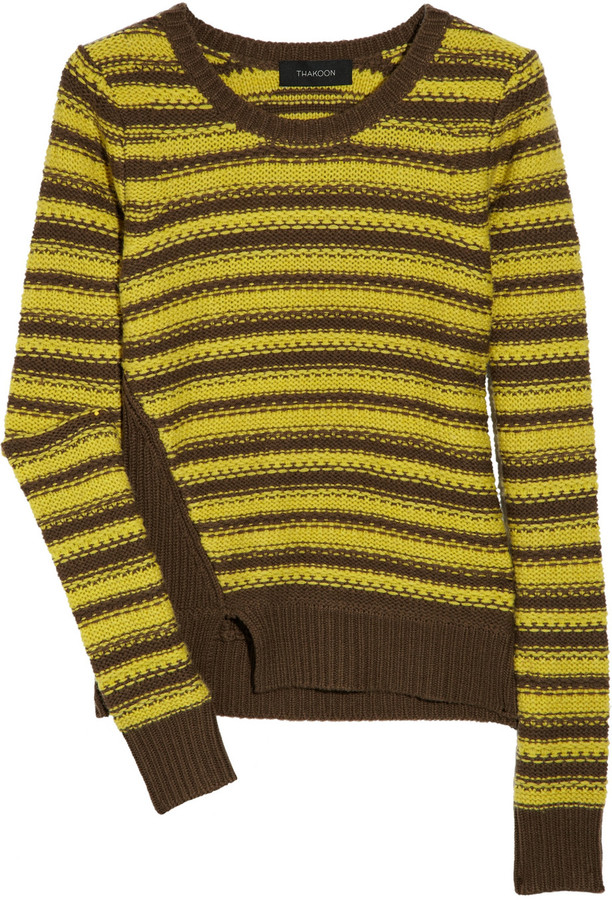 Thakoon Striped wool and cashmere-blend sweater