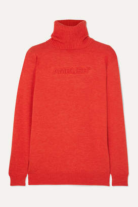 Ambush Wool-blend Turtleneck Sweater - Orange