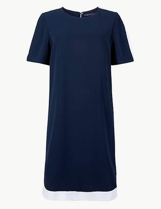 Marks and Spencer Colour Block Short Sleeve Shift Dress