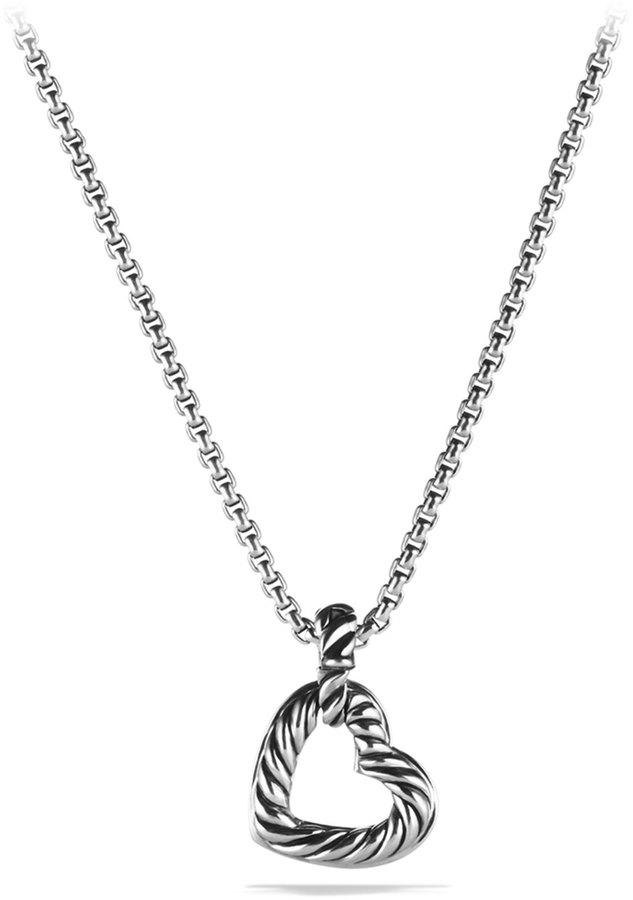 David Yurman Cable Heart Pendant with Diamonds