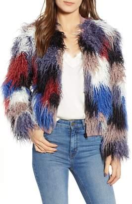 ASTR the Label Shaggy Faux Fur Jacket