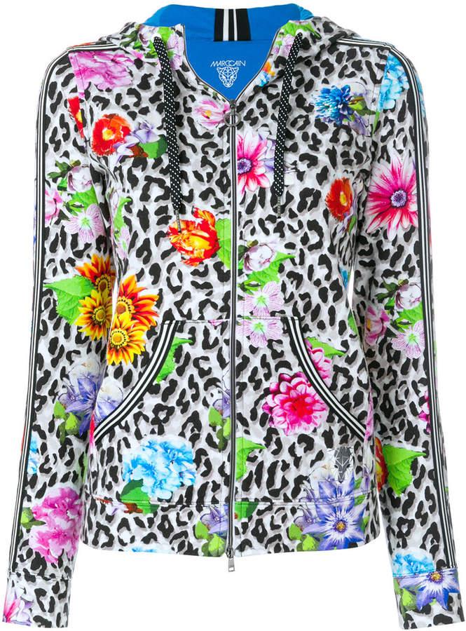 animal print hooded jacket