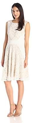 Julian Taylor Women's Sleeveless Lace A-Line Dress