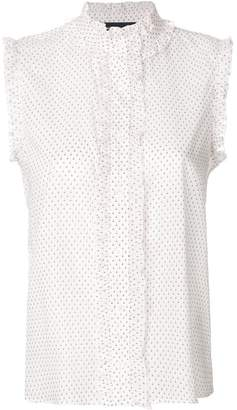 Vanessa Seward sleeveless frill-trim shirt