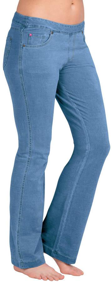 Bermuda Wash Five-Pocket Petite Bootcut Jeans - Women