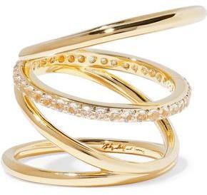 Elizabeth and James Gold-Tone Crystal Ring