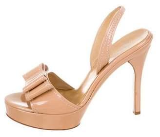Valentino Patent Leather Platform Slingback Sandals