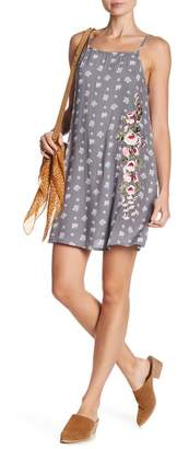 Angie Floral Embroidered Slip Dress