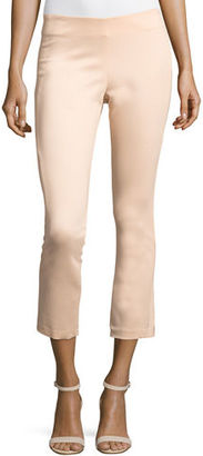Veronica Beard Calla Lillies Cropped Satin Pants $375 thestylecure.com