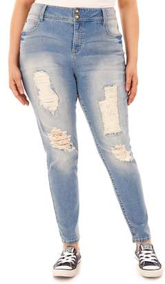 WallFlower Plus Size Luscious Curvy Bling Bootcut Jeans in