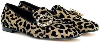 Dolce & Gabbana Crystal-embellished loafers