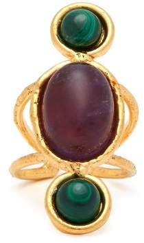 Sylvia Toledano - Wonder Amethyst & Malachite Ring - Womens - Burgundy