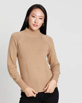 Karen Millen High Neck Wool Jumper
