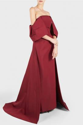 Christian Siriano Draped Shoulder Gown