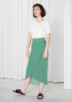 And other stories Curved Hem Midi Wrap Skirt