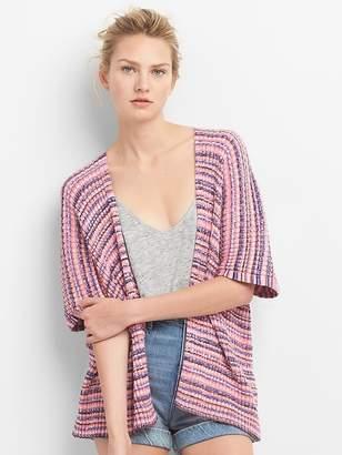 Gap Stripe Open-Front Cardigan Sweater