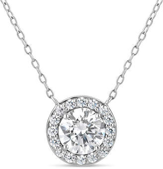 Swarovski FINE JEWELRY Sterling Silver & 18k Rose Gold Over Silver 2 3/4 CT. T.W. Halo Necklace - Featuring Zirconia