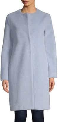 Harris Wharf London Faux Fur Collarless Coat