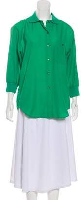 Diane von Furstenberg Chiffon Button-Up Top