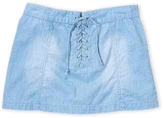 Flowers by Zoe Chambray Lace-Up Skirt