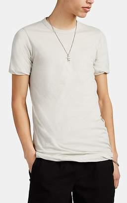 Rick Owens Men's Double-Layer Cotton T-Shirt - White
