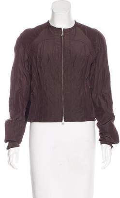 Kaufman Franco Kaufmanfranco Leather-Accented Taffeta Jacket