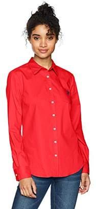 U.S. Polo Assn. Women's Solid Single Pocket Long Sleeve Shirt