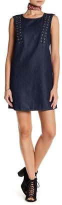 True Religion Lace Up Detail Denim Dress