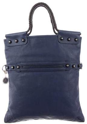 Lanvin Studded Fold-Over Satchel